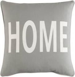 Surya Glyph Pillow Home Gray - White