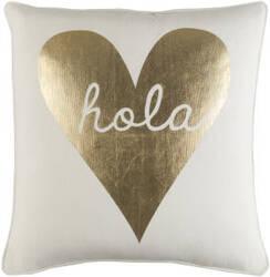 Surya Glyph Pillow Hola White - Metallic Gold