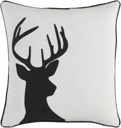Surya Holiday Pillow Deer Holi7244 Ivory