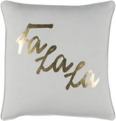 Surya Holiday Pillow January Holi7253 Metallic Gold
