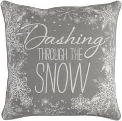 Surya Holiday Pillow Snow Holi7255 Gray