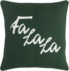 Surya Holiday Pillow January Holi7260 Forest Green