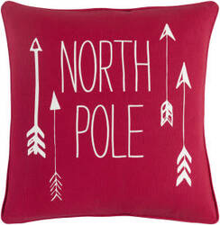 Surya Holiday Pillow North Pole Holi7267 Crimson Red