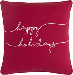 Surya Holiday Pillow Joy Holi7268 Crimson Red