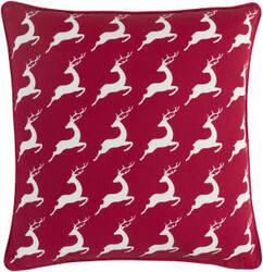 Surya Holiday Pillow Bells Holi7273 Crimson Red