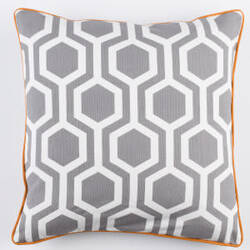 Surya Inga Pillow Thea Gray - White