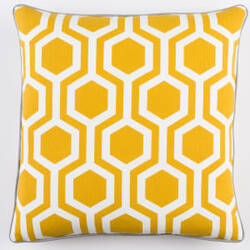 Surya Inga Pillow Thea Dark Yellow - White