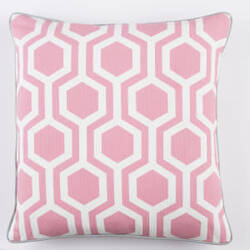 Surya Inga Pillow Thea Pink - White