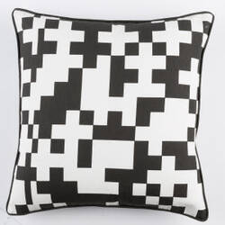 Surya Inga Pillow Puzzle White - Black