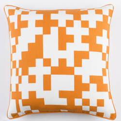 Surya Inga Pillow Puzzle White - Orange