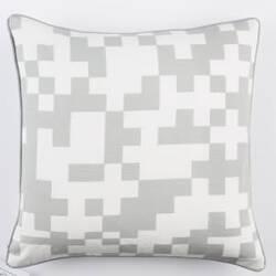 Surya Inga Pillow Puzzle Gray - White