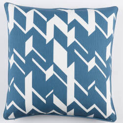 Surya Inga Pillow Josefine Blue - White
