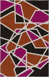 Surya Joan Holloway Hot Pink - Orange - Black Area Rug