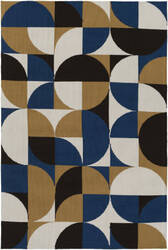 Surya Joan Thatcher Navy Blue - Gold - Black Area Rug