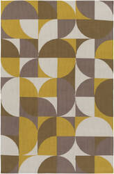 Surya Joan Thatcher Yellow - Taupe - Dark Gold Area Rug