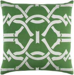 Surya Kingdom Pillow Pandora Green - White