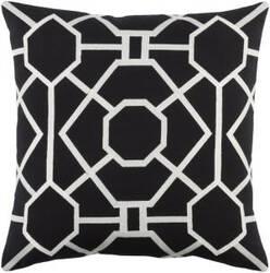 Surya Kingdom Pillow Porcelain Black - White