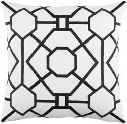 Surya Kingdom Pillow Porcelain White - Black