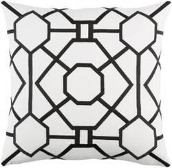 Surya Kingdom Pillow Porcelain White - Black