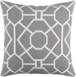 Surya Kingdom Pillow Porcelain Gray - White