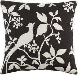 Surya Kingdom Pillow Birch Black - White