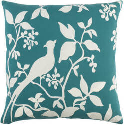 Surya Kingdom Pillow Birch Teal - White