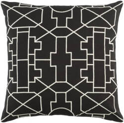 Surya Kingdom Pillow Lei Black - White