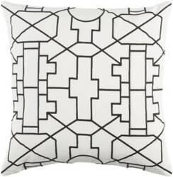 Surya Kingdom Pillow Lei White - Black