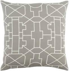 Surya Kingdom Pillow Lei Gray - White
