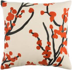 Surya Kingdom Pillow Anna Red - Beige - Black