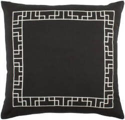 Surya Kingdom Pillow Rachel Black - White