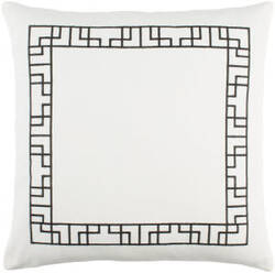 Surya Kingdom Pillow Rachel White - Black