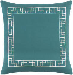 Surya Kingdom Pillow Rachel Teal - White