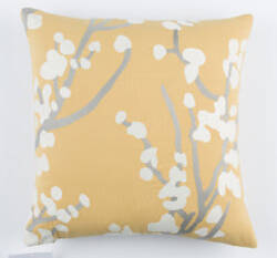 Surya Kingdom Pillow Anna Gray - Yellow - Black