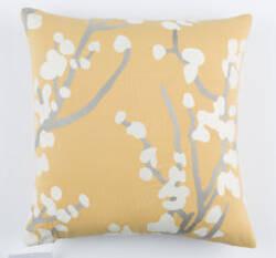 Surya Kingdom Pillow Anna Gray - Yellow - Black