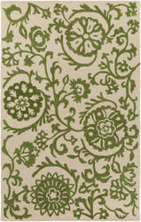 Surya Rhodes Maggie Green - Off-White Area Rug