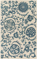 Surya Rhodes Maggie Teal Blue - Off-White Area Rug