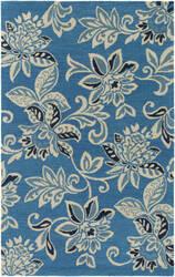 Surya Rhodes Elsie Teal Blue - Off-White Area Rug