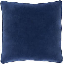 Surya Safflower Pillow Ally Saff7193 Navy Blue