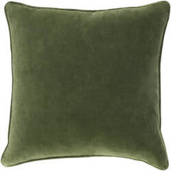 Surya Safflower Pillow Ally Saff7194 Olive Green
