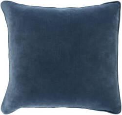 Surya Safflower Pillow Ally Saff7195 Teal