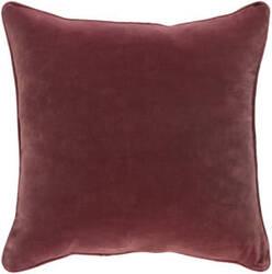 Surya Safflower Pillow Ally Saff7197 Burgundy