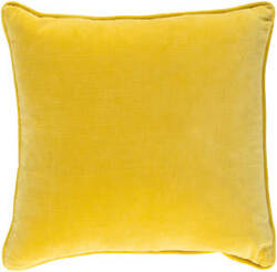 Surya Safflower Pillow Ally Saff7202 Bright Yellow