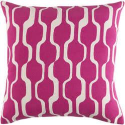 Surya Trudy Pillow Vivienne Hot Pink - White