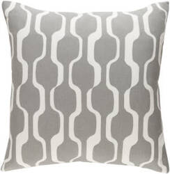 Surya Trudy Pillow Vivienne Gray - White