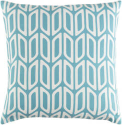 Surya Trudy Pillow Nellie Teal - White
