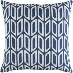 Surya Trudy Pillow Nellie Navy - White
