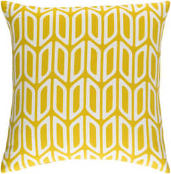 Surya Trudy Pillow Nellie Yellow - White