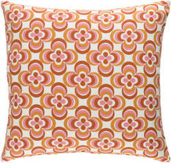 Surya Trudy Pillow Rosa Orange Multi