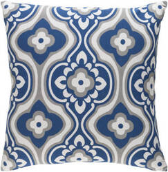 Surya Trudy Pillow Blossom Navy - White